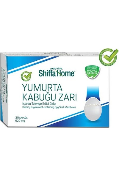 Aksu Vital Shiffa Home Yumurta Kabuğu Zarı 30 Kapsül 620 mg