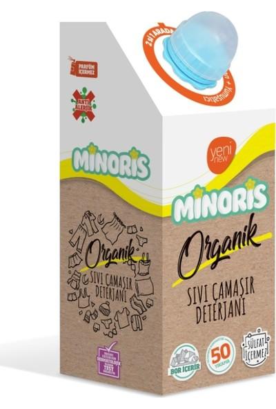 Minoris Ebeveyn Organik Antialerjik Sıvı Çamaşır Deterjanı Parfümsüz Sülfatsız 50 Yıkama