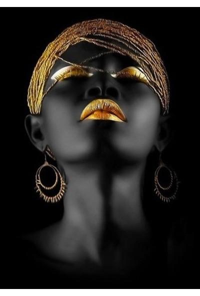 Yaylera Afrikalı Kadın Temalı Dekoratif Kanvas Tablo 70*100 cm