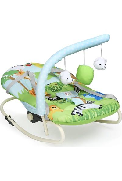 Babybee Sallanır Oyuncaklı Anakucağı Mavi-Yeşil