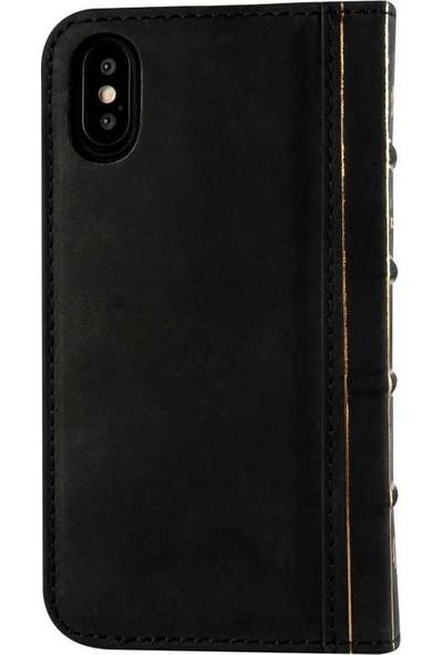 Book Case Apple iPhone XS MAX Suni DeriKılıf Book Case Oud Koyu Kahverengi Cüzdanlı