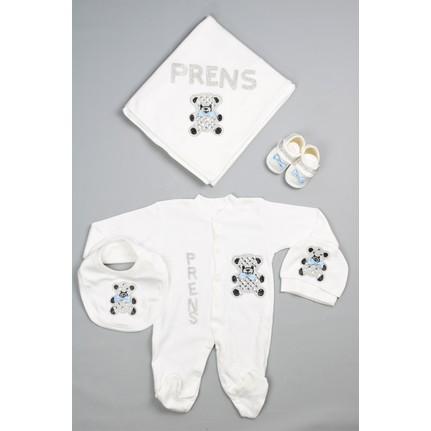 Bebeğime Cici Erkek Bebek Prens Taş Baskılı Hastane çıkışı Fiyatı