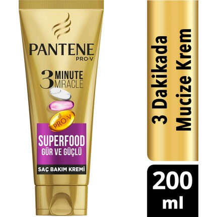 Pantene 3 Minute Miracle 200 Ml Superfood Sac Bakim Kremi Fiyati