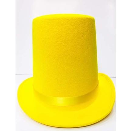 Samur Uzun Sihirbaz şapkası Fötr şapka Sarı Renk Fiyatı