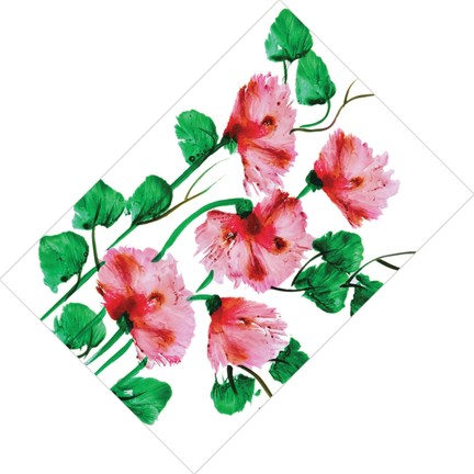 Cici Halı Sulu Boya çiçek Desenli Dekoratif Halı 80x150 Fiyatı