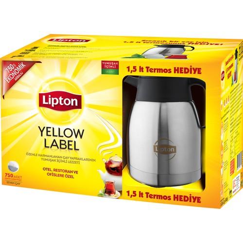 Lipton Yellow Label 750 li Demlik Poşet Çay + Termos