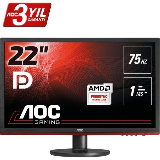 """AOC G2260VWQ6 21.5"""" 75 Hz 1ms (Analog+HDMI+Display) Full HD FreeSync Oyuncu Monitörü"""