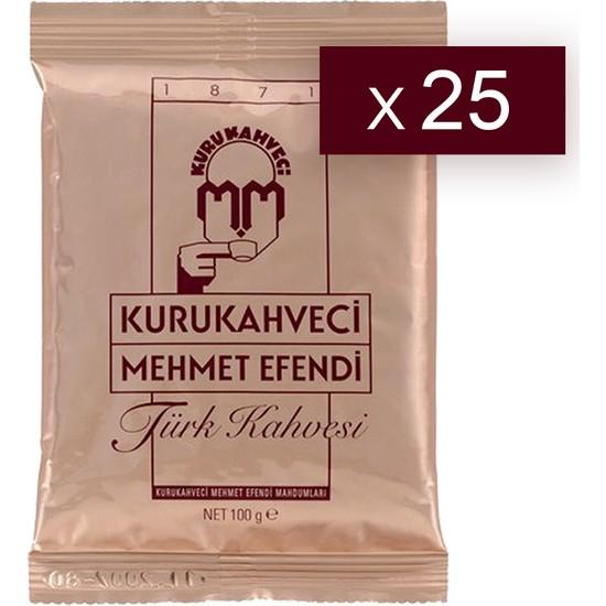 Mehmet Efendi Türk Kahvesi 100 Gr x 25 Adet