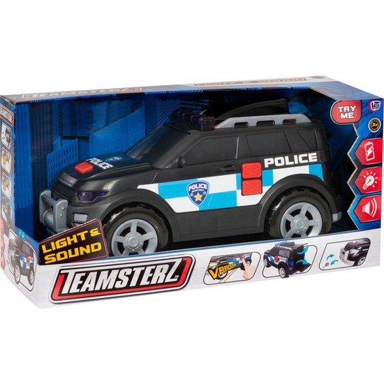 Teamsterz Siren Sesli Ve Işıklı Polis Arabası 4 x 4 Çekici Jeep