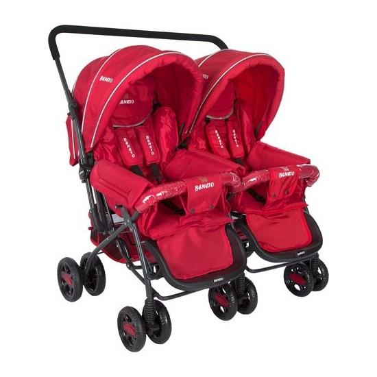 Beneto Bt-151 Turado Twin İkiz Bebek Arabası - Kırmızı