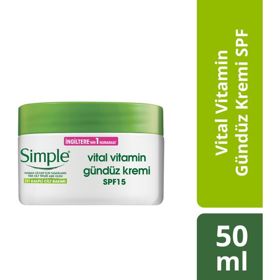 Simple Vital Vitamin Gündüz Kremi SPF 50 ml