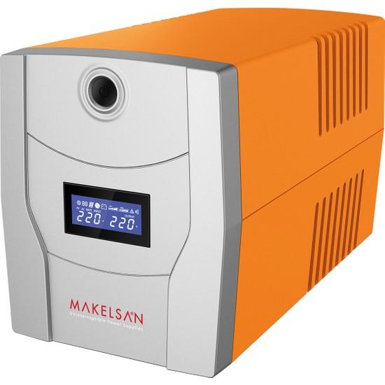 Makelsan Lion 1200Va Lcd Ekranlı Uzun Ömürlü Akü (2X 7Ah) + Tkz-63A Kablo + Tkz Pad