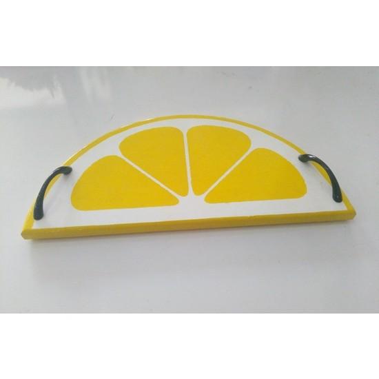 Papatya Hobi Evi Ahşap Limon Tepsi