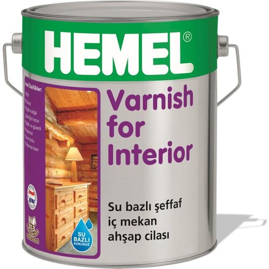 Hemel Varnish For İnterior 2.5 Lt Su Bazlı Şeffaf İç Mekan Ahşap Cilası