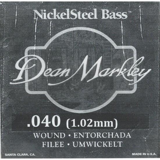 Dean Markley Nickel Steel Bass .040 Bas Gitar Tek Tel