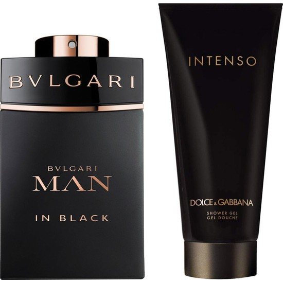 Bvlgari Man In Black EDP 100 ml Erkek Parfümü + Dolce Gabbana İntenso Duş Jeli 100 ml Set