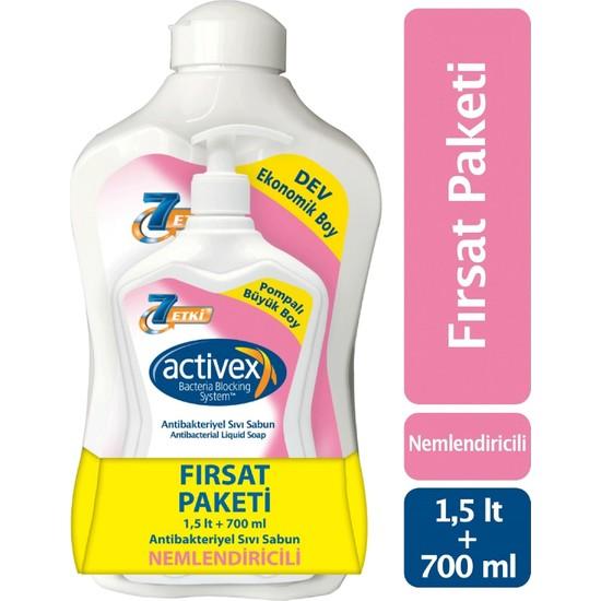 Activex Antibakteriyel Sıvı Sabun Nemlendiricili 1.5 lt & 700 ml Fırsat Paketi
