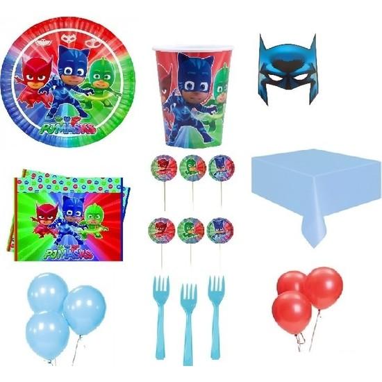 Partici Pijamaskeliler Pj Masks Lisanslı Parti Sunum Seti 8 Kişilik