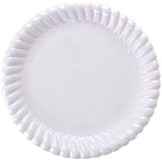 Samur Beyaz Karton Tabak 23 cm 25li