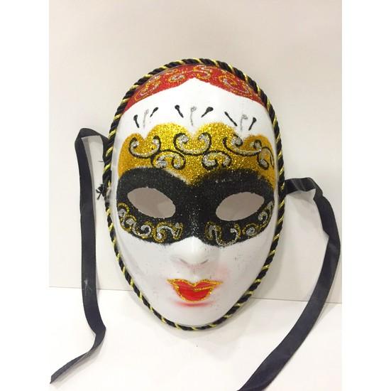 Samur Simli Halloween Parti Maskesi