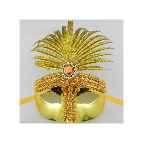 Samur Yılbaşı Maskesi Sarı Renk