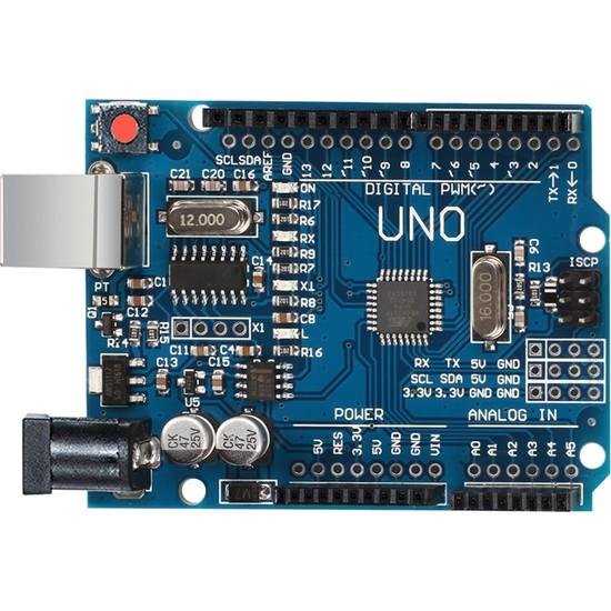 Arduino Uno R3 Klon (Smd) + 40 Pin Header + Usb Kablo