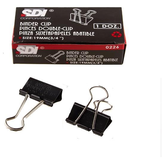 Sdi 0222 Double Metal Klips 51 Mm 12 Li (1 Paket 12 Adet)