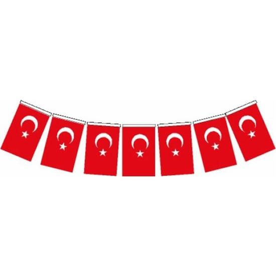Vatan Orta Boy İpli Kağıt Türk Bayrağı 50 Li Vt807