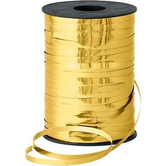 PartiniSec Metalik Gold, Altın Sarısı Rafya Lüks