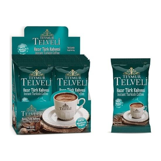 Teymur Telveli Orta Hazır Türk Kahvesi (12 Adet Hazır Kahve)