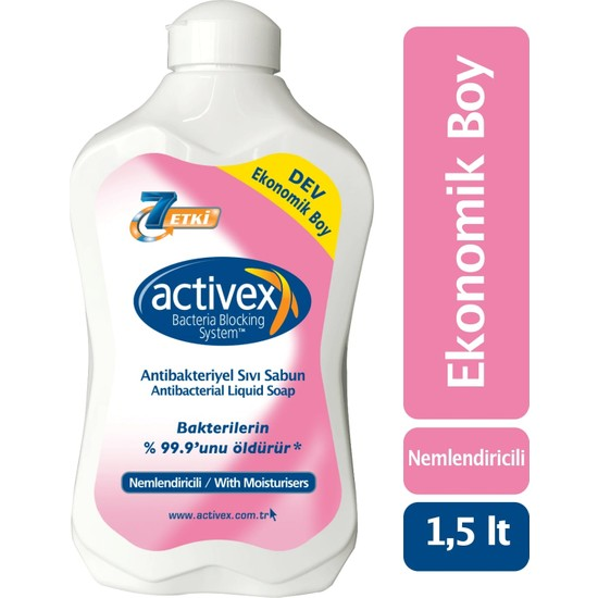 Activex Antibakteriyel Sıvı Sabun Nemlendirici 1.5 lt