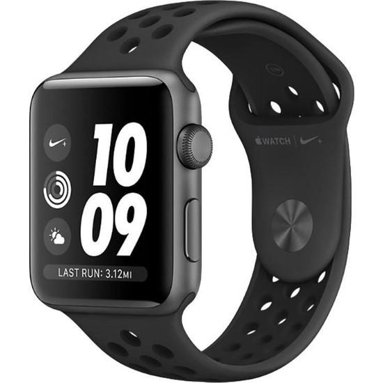 Apple Watch Seri 3 Nike+ 42mm Uzay Grisi Alüminyum Kasa ve Antrasit/Siyah Nike Spor Kordon - MTF42TU/A