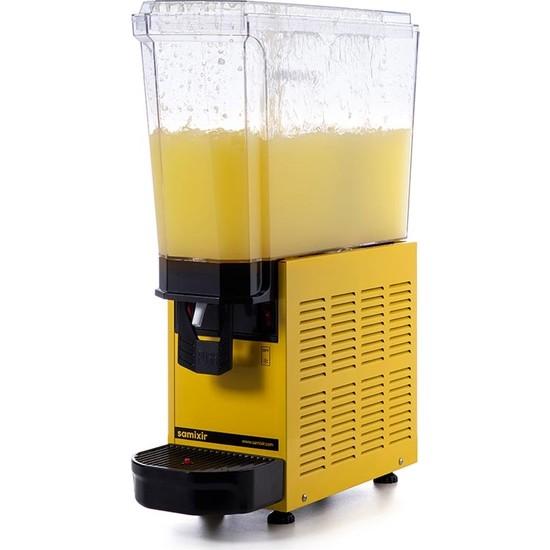 Samixir Klasik Mono Soğuk İçecek Dispenseri, 20 L, Fıskiyeli, Sarı
