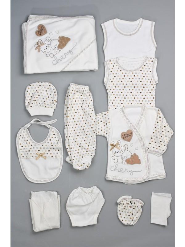 Bebeğime Cici Erkek Bebek 11'li Mutlu Tavşanlar Kahverengi Hastane Çıkışı