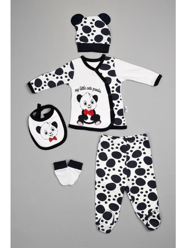 Bebeğime Cici Erkek Bebek Panda Zıbın Takımı