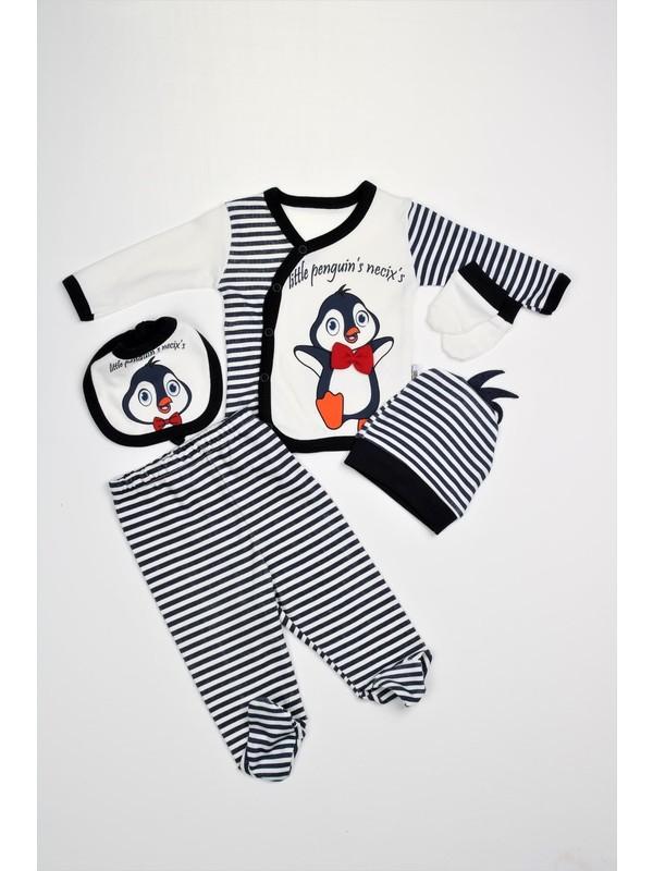 Bebeğime Cici Bebek 5'li Penguenli Zıbın Takımı