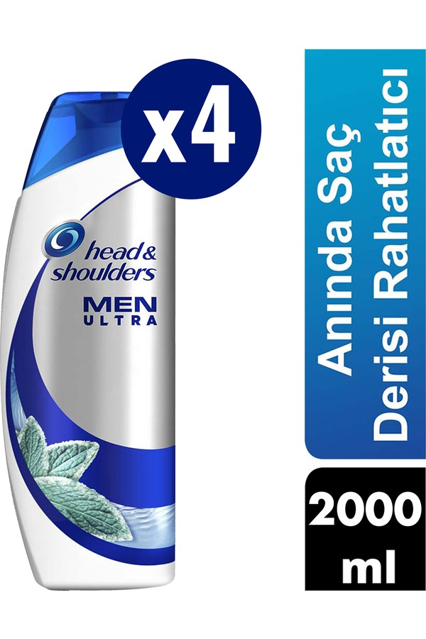 Head & Shoulders M Ultra Men For Instant Scalp Shampoo Relaxing 4 x 500 ml