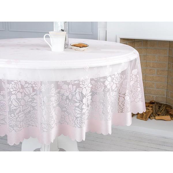 English Home Rosy Rain Orme Masa Ortusu 180 Cm Pembe