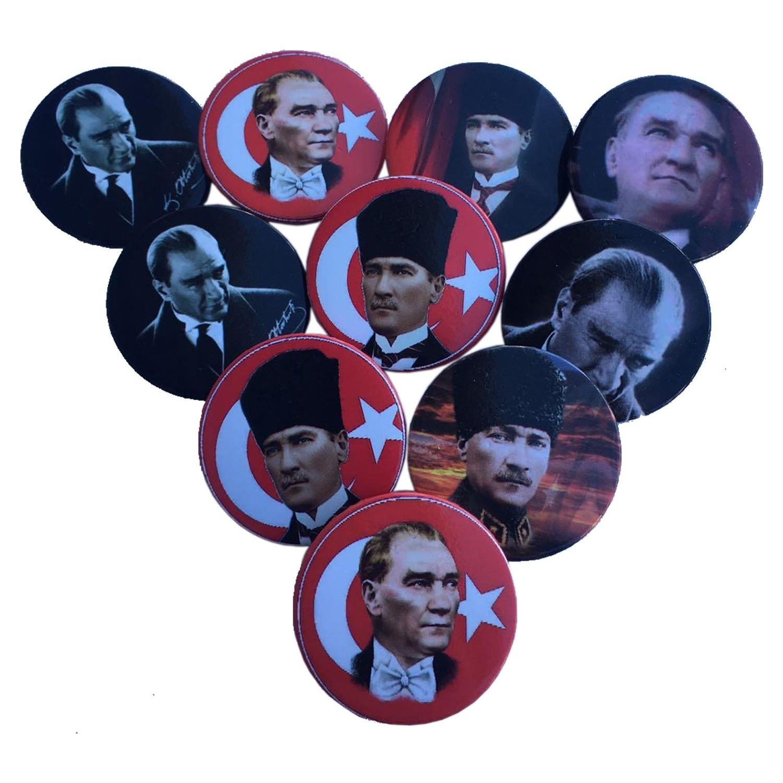 Balonpark 20 Adet Mustafa Kemal Ataturk Yaka Rozeti Fiyati