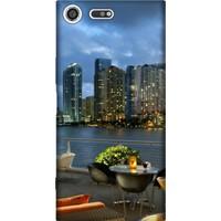 Cekuonline Sony Xperia XZ Premium Desenli Esnek Silikon Telefon Kapak Kılıf - Miami2