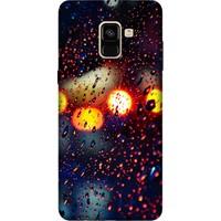 Cekuonline Samsung Galaxy A8 Plus 2018 Desenli Esnek Silikon Telefon Kapak Kılıf - Yağmur