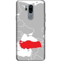 Cekuonline LG G7 ThinQ Desenli Esnek Silikon Telefon Kapak Kılıf - Türkiye Konum