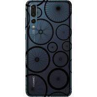 Cekuonline Huawei P20 Pro Desenli Esnek Silikon Telefon Kapak Kılıf - Pedal Bisiklet