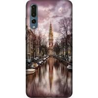 Cekuonline Huawei P20 Pro Desenli Esnek Silikon Telefon Kapak Kılıf - Amsterdam