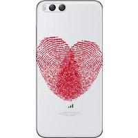 Cekuonline Xiaomi Mi 6 Desenli Esnek Silikon Telefon Kapak Kılıf - Kalp İzi