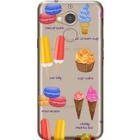 Cekuonline General Mobile GM 8 Desenli Esnek Silikon Telefon Kapak Kılıf - Creamer