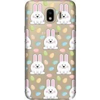 Cekuonline Samsung Galaxy J4 (2018) Desenli Esnek Silikon Telefon Kapak Kılıf - Tavşancık