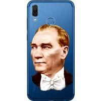 Cekuonline Huawei Honor Play Desenli Esnek Silikon Telefon Kapak Kılıf - Smokin Atatürk
