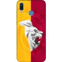 Cekuonline Huawei Honor Play Desenli Esnek Silikon Telefon Kapak Kılıf - Sarı Kırmızı Şampiyon