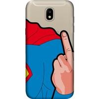 Cekuonline Samsung Galaxy J7 Pro J730 Desenli Esnek Silikon Telefon Kapak Kılıf - Superman FCK